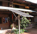 云南太陽能家用發電系統 云南太陽能發電交流看電視