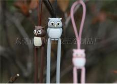 手機硅膠創意飾品2011最新款硅膠貓頭鷹手機吊繩