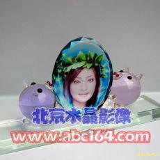透明水晶照片 水晶影像 水晶獎杯 北京水晶獎杯