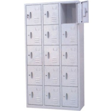 天河區品質保證烤漆訂做儲物柜15門柜