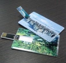 工廠低價促銷卡片式U盤雙面彩色印刷高清LOGO圖片