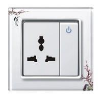 一位开关带多功能墙壁开关插座