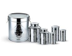 批發供應不銹鋼茶葉罐 2兩-40斤茶葉罐 麗茂供應商