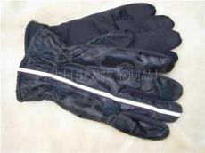 男士防水布反光条手套