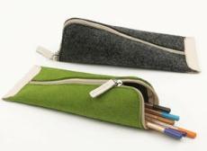 供简约毛毡笔袋 拉链笔袋 彩色毛毡笔袋在华嘉毛毡厂