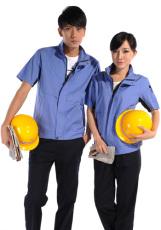 天蓝短袖纯棉工作服WY512-004