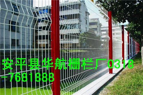 桃型立柱三角折弯护栏网