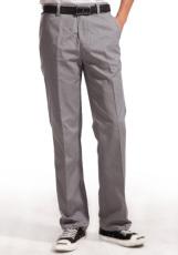 涤棉斜纹浅灰裤子WK501-007