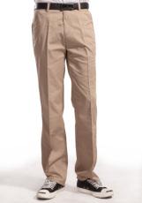 涤棉斜纹驼色裤子WK501-011