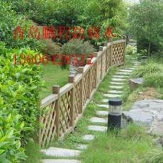 供应青岛园艺防腐木护栏
