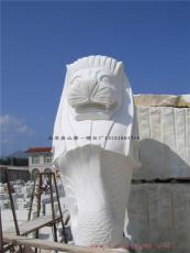 汉白玉鱼尾狮汉白玉动物雕刻西方雕刻