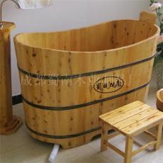 單邊對稱加頭靠木浴桶/四川木桶廠家/桑拿木桶