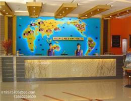 宾馆酒店?#21830;?#32972;景墙装饰案例-新款世界时钟