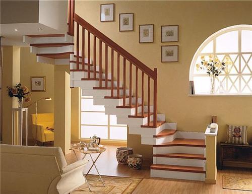 实木楼梯 别墅楼梯上海楼梯装修罗曼b