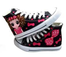 手繪鞋 繪寶中幫手繪鞋 網上代理批發