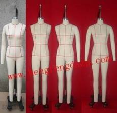專業定制立裁模特 專業生產裁剪模特 尺寸標準人臺公仔