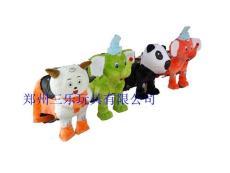毛絨電動玩具車 價格 喜羊羊電動車玩具車 鄭州三樂出