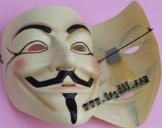厂家直供万圣节面具 V字仇杀队面具 PVC面具