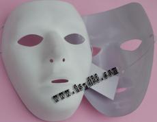 厂家直供万圣节面具 白色面具 舞会面具 吸塑面具