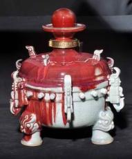 新加入鈞瓷酒瓶 河南陶瓷酒瓶廠 對景德鎮陶瓷形成挑戰