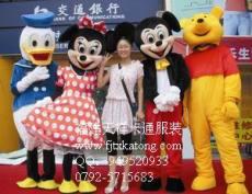 供应香港卡通服装 台湾卡通人偶 跳跳虎米老鼠