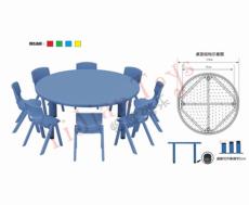 正方形环保塑料儿童桌椅 幼儿园桌 幼儿园椅 怡健游乐