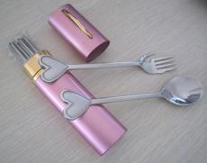 户外旅行餐具 笔筒餐具三件套