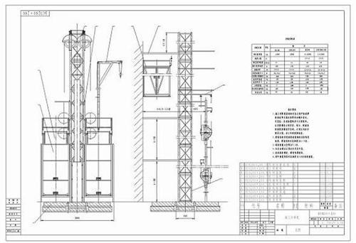 施工电梯图纸_施工升降机图纸图片